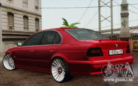 BMW M5 E39 2003 pour GTA San Andreas vue de droite