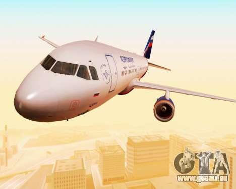 Airbus A320-200 Aeroflot für GTA San Andreas obere Ansicht