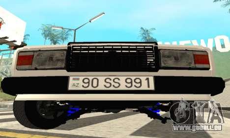 VAZ 2107 Avtosh pour GTA San Andreas laissé vue