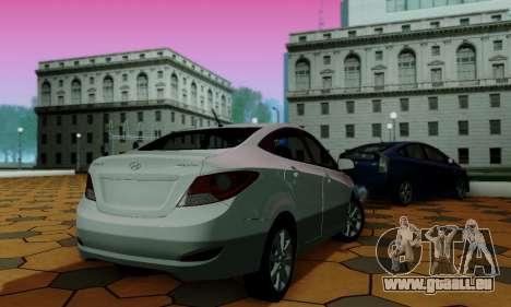 Hyndai Solaris für GTA San Andreas obere Ansicht