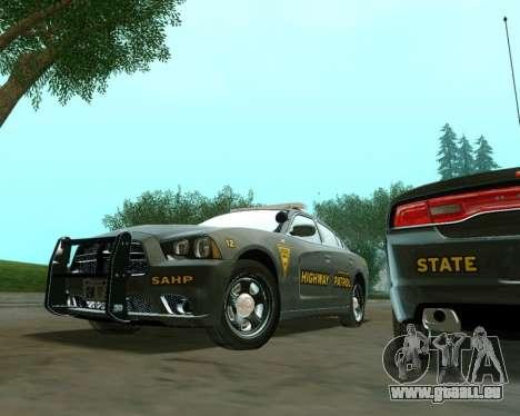 Dodge Charger 2012 SAHP für GTA San Andreas rechten Ansicht