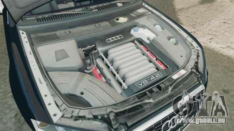 Audi S4 Avant TEK [ELS] pour GTA 4 est une vue de l'intérieur