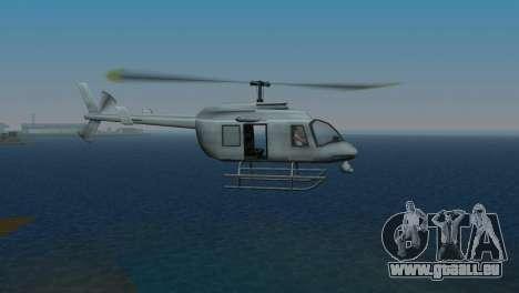 Maverick из GTA pour GTA Vice City sur la vue arrière gauche