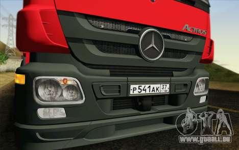 Mercedes-Benz Actros pour GTA San Andreas vue de droite