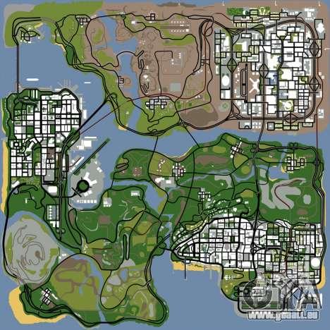 HD carte, radar et menu pour GTA San Andreas sixième écran