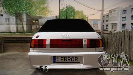 Audi RS2 Avant pour GTA San Andreas vue intérieure