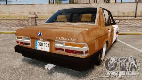BMW 535is E28 Sharkie pour GTA 4 Vue arrière de la gauche