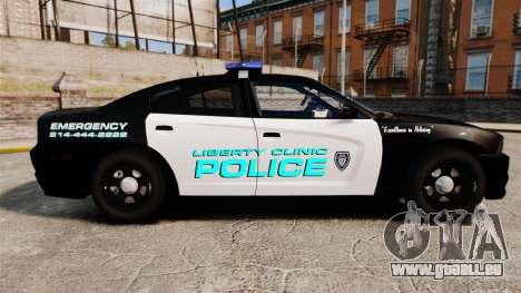 Dodge Charger 2011 Liberty Clinic Police [ELS] für GTA 4 linke Ansicht