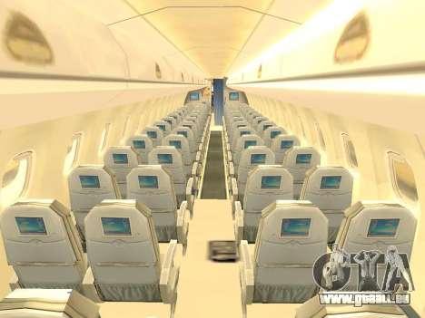 Embraer 175 HOUSE pour GTA San Andreas vue de dessous