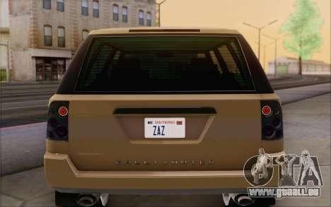 Gallivanter Baller из GTA V pour GTA San Andreas vue de dessous