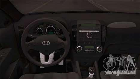 Kia Ceed 2011 SA Plates für GTA San Andreas Rückansicht