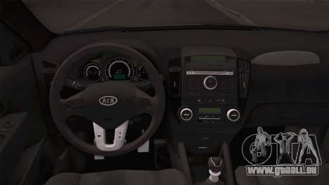 Kia Ceed 2011 SA Plates pour GTA San Andreas vue arrière