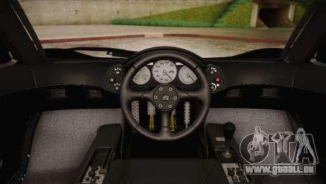 McLaren F1 Police Edition pour GTA San Andreas vue arrière