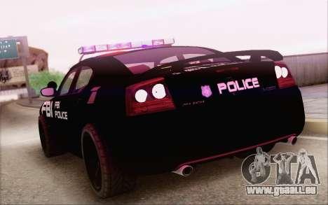 Dodge Charger SRT8 FBI Police pour GTA San Andreas laissé vue