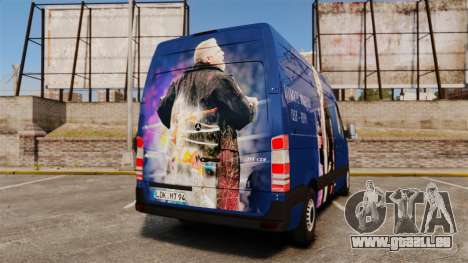 Mercedes-Benz Sprinter 2011 WWE Ultimate Warrior für GTA 4 hinten links Ansicht