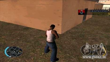 C-HUD Hitman Absolution pour GTA San Andreas deuxième écran