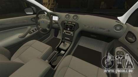 Ford Mondeo Hungarian Police [ELS] pour GTA 4 vue de dessus