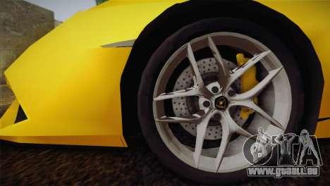 Lamborghini Huracane LP 610-4 V2.0 pour GTA San Andreas laissé vue