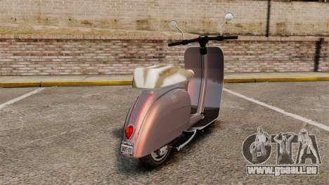 GTA V Pegassi Faggio für GTA 4 hinten links Ansicht
