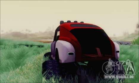 GAZ M20 Monstre pour GTA San Andreas sur la vue arrière gauche
