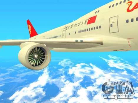 Boeing 747 Air China für GTA San Andreas rechten Ansicht