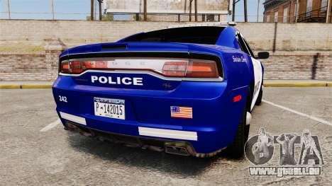 Dodge Charger 2013 LCPD [ELS] pour GTA 4 Vue arrière de la gauche
