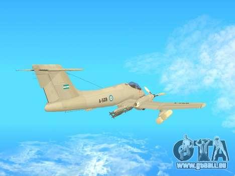 FMA IA-58 Pucara pour GTA San Andreas sur la vue arrière gauche
