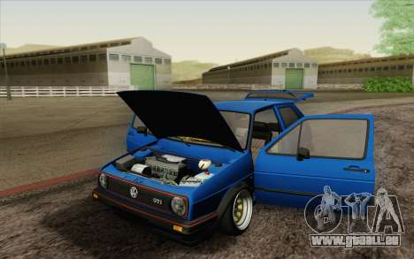 Volkswagen Golf MK2 LowStance für GTA San Andreas obere Ansicht