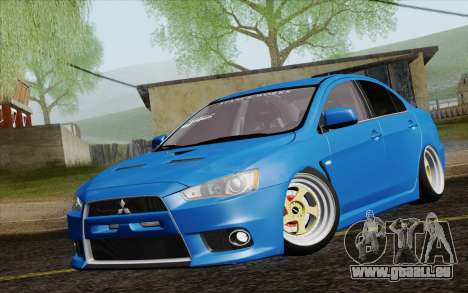 Mitsubishi Lancer Evo X GangLow pour GTA San Andreas