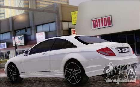 Mercedes-Benz CL65 AMG für GTA San Andreas zurück linke Ansicht