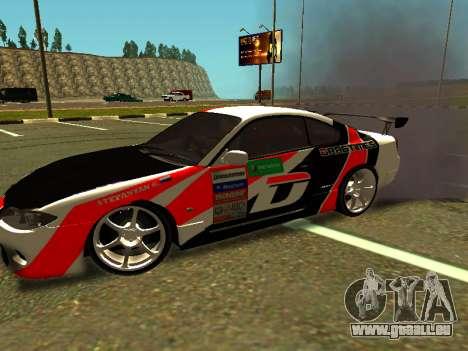 Nissan Silvia S15 Team Dragtimes pour GTA San Andreas laissé vue