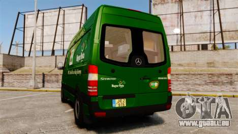 Mercedes-Benz Sprinter 2500 2011 Hungarian Post für GTA 4 hinten links Ansicht