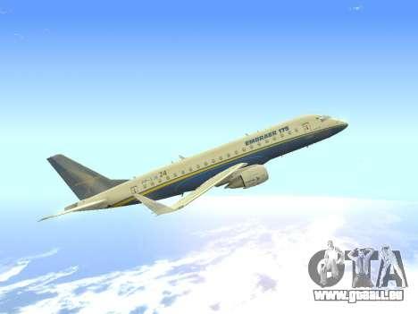Embraer 175 HOUSE pour GTA San Andreas vue intérieure