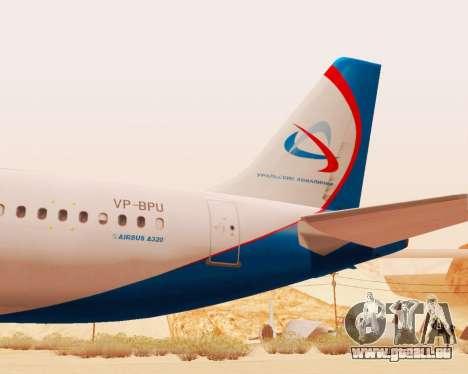 Airbus A320-200 Ural Airlines für GTA San Andreas Rückansicht