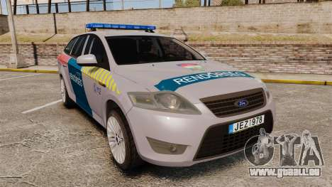 Ford Mondeo Hungarian Police [ELS] pour GTA 4