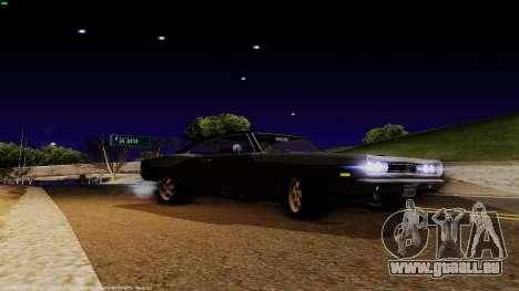Dodge Coronet RT 1969 440 Six-pack für GTA San Andreas zurück linke Ansicht