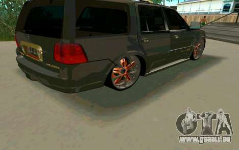 Lincoln Navigator DUB Edition für GTA San Andreas Rückansicht