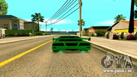 Nouveau Turismo pour GTA San Andreas sur la vue arrière gauche