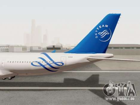 A330-202 China Eastern pour GTA San Andreas vue intérieure
