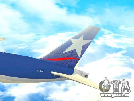 Boeing 777 LAN Cargo für GTA San Andreas Seitenansicht