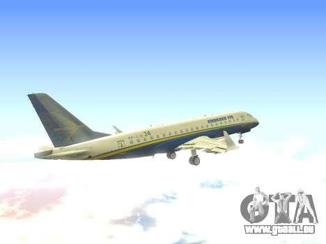 Embraer 175 HOUSE pour GTA San Andreas vue de côté