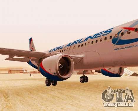 Airbus A320-200 Ural Airlines für GTA San Andreas linke Ansicht