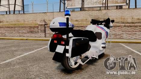 BMW R1150RT Police nationale [ELS] für GTA 4 rechte Ansicht