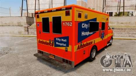 Brute CHH Ambulance für GTA 4 hinten links Ansicht