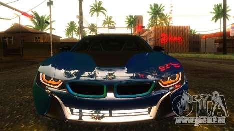 BMW I8 2013 für GTA San Andreas Rückansicht