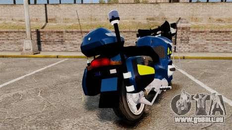 BMW R1150RT Gendarmerie [ELS] pour GTA 4 Vue arrière de la gauche