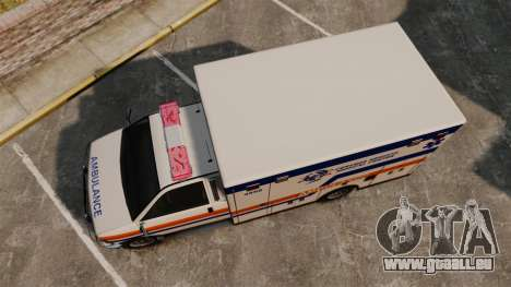 Brute CHMC Ambulance pour GTA 4 est un droit