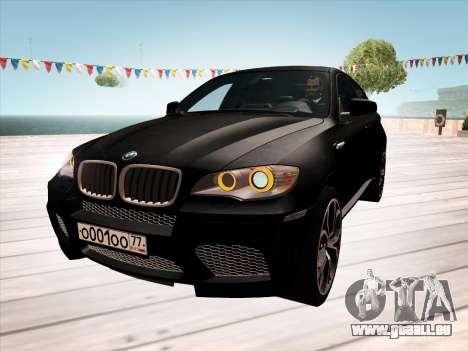 BMW X6M 2010 pour GTA San Andreas salon