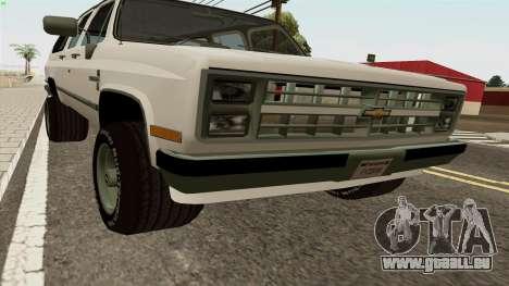 Chevrolet Suburban 2500 1986 pour GTA San Andreas laissé vue