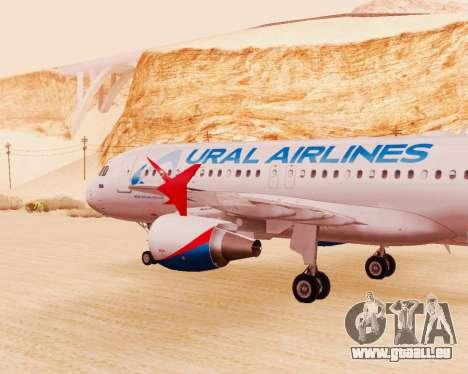 Airbus A320-200 Ural Airlines für GTA San Andreas rechten Ansicht